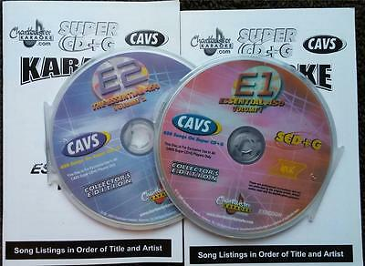 2 Scdg Discs Chartbuster Essentials Vol 1,2 Karaoke 900 Songs Cavs **2019 Sale**