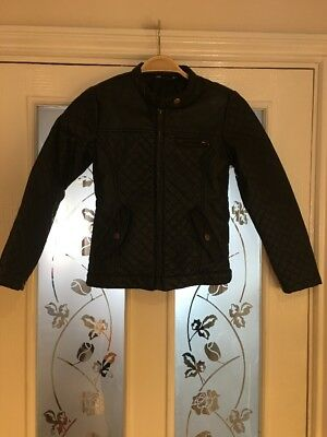 Girls Clothes 8-9 Years George Asda Faux Leather Jacket Vgc