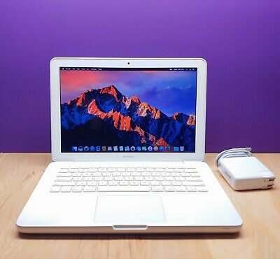"""Apple MacBook 13"""" White / 2.4GHz Dual Core / UPGRADED 500GB STORAGE / OS-2017"""