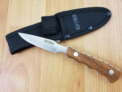 Schrade Old Timer Fixed Caping Knife Wood Caper Hunter Full Tang 1644C