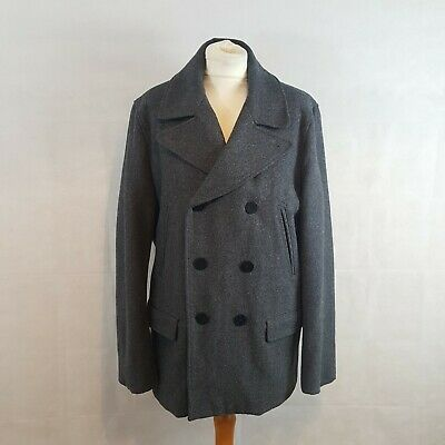 GAP Womens Birch Beer Burgandy Wool Peacoat Coat Large