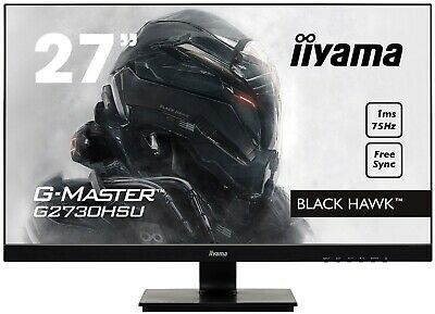 "27"" iiyama Black Hawk Monitor - AMD Freesync - 1080p 75hz 1ms - Gaming/Streaming"