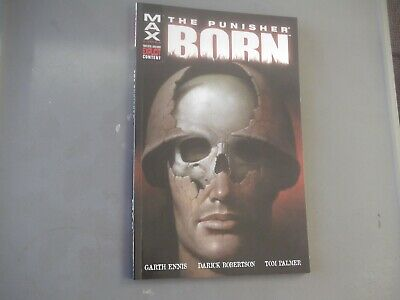 Marvel Comics The Punisher MAX Born Graphic Novel Paperback Book 2004 FIRST PRIN