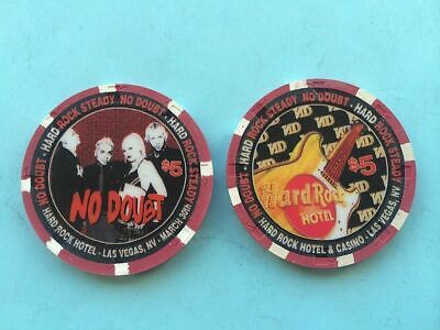 Uncirculated//Mint Hard Rock Las Vegas $5 The Who 2002 Casino Chip