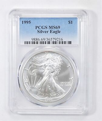 1995 American Silver Eagle MS-69 1 Troy Oz PCGS Graded *565
