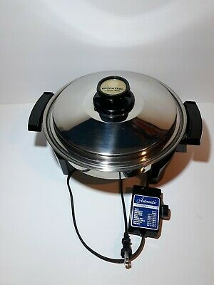 West Bend Kitchen Craft Electric Skillet Liquid Core 900W CAT#17884 Waterless