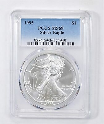 1995 American Silver Eagle MS-69 1 Troy Oz PCGS Graded *571