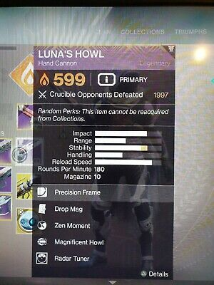 Destiny 2 Fabled Comp Score (2100) Recluse/Luna Recovery (PS4 Only)