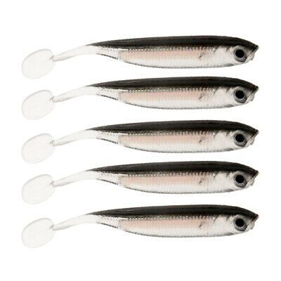 10pcs Lifelike 3D Eye Soft Worm Lures Silicone Baits T Tail Fishing Lures