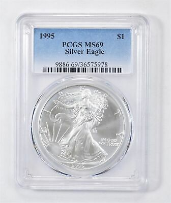 1995 American Silver Eagle MS-69 1 Troy Oz PCGS Graded *570