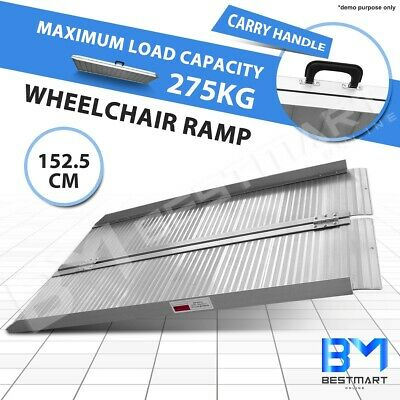 5FT Portable Mobility Wheelchair Ramp Scooter Aluminium Folding Loading Access