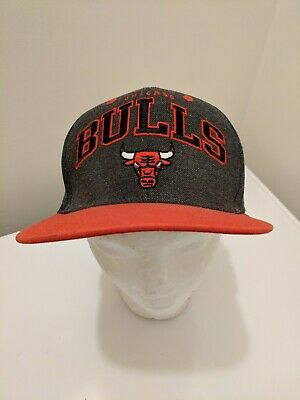 4b04d27a5e7 90s Chicago Bulls Snapback Hat Adidas Originals Cap NBA Basketball Retro  Classic