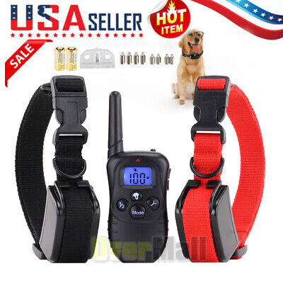 Dog Shock Collar With Remote Waterproof Electric For Large 1000Yard Pet Training