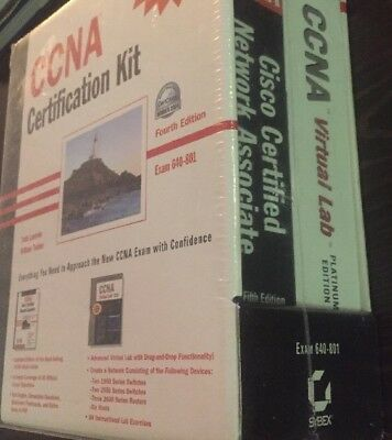 CCNA Certification Kit 4th Ed Exam 640-801 Virtual Software & Book SYBEX NEW
