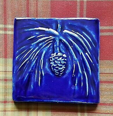 Detroit's Pewabic Pottery -  PINECONE AND TASSELS TILE