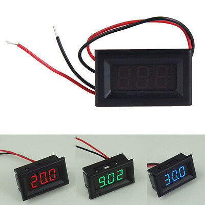 Mini Dc 2.5-30V Pantalla LED 3-Digital Panel Voltios Voltaje Metros Voltímetro