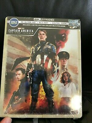 Captain America Prima Avenger 4k UHD Blu-Ray Digital HD Steelbook Nuovo Marvel