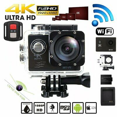 Wifi 4K 1080P Ultra HD 16MP Waterproof 30M Action Camera Sports Camcorder New