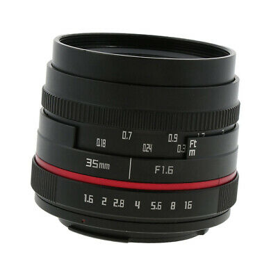 Large Aperture Prime Fixed Lens for Canon EF-M Camera Fully Coated F1.6 35mm