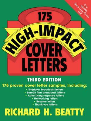 175 High-Impact Cover Letters by Richard H. Beatty (English) Paperback Book Free
