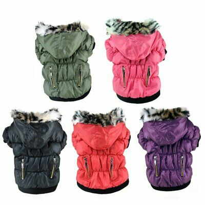 Large Pet Dog Jacket Winter Warm Zipper Coat Puppy Hoodie Padded Apparel