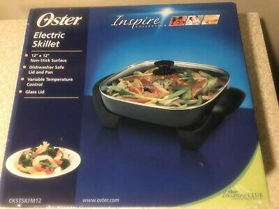 Oster electric skillet by inspire collection 12 x 12