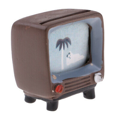 1/12 Doll House Miniature Furniture TV Television for Living Room Decoration