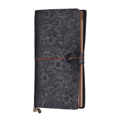In rilievo Travel Journal Notebook Diario rilegato in pelle Lined Notepad G2Y4
