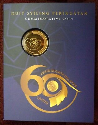 Card Coins 2011 Malaysia 50th WWF Commemorative 1 Ringgit Nordic Gold Coin BU