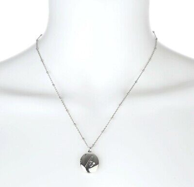 kate spade ny 128466 initial h locket silver necklace $68