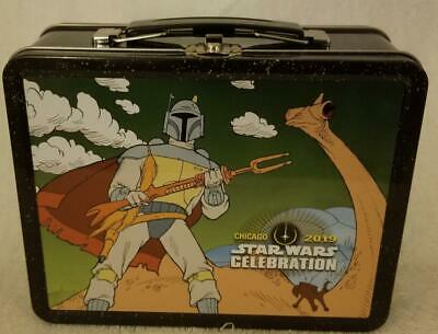 Star Wars Celebration 2019 Chicago Holiday Special Boba Fett Lunch Box Mip