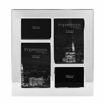 Impressions Nickel Plated Multi Aperture Photo Frame