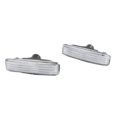 2 Pack Clear Side Marker Repeater Lights White LED for BMW E39 5 SERIES