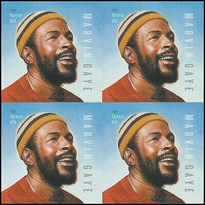 US 5371 Music Icons Marvin Gaye forever block (4 stamps) MNH 2019