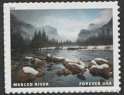 US 5381a Wild and Scenic Rivers Merced River forever single MNH 2019