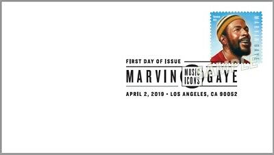 US 5371 Music Icons Marvin Gaye BWP FDC 2019