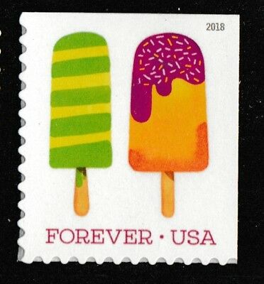 US 5285 Frozen Treats Green & Yellow stripped forever single (1 stamp) MNH 2018