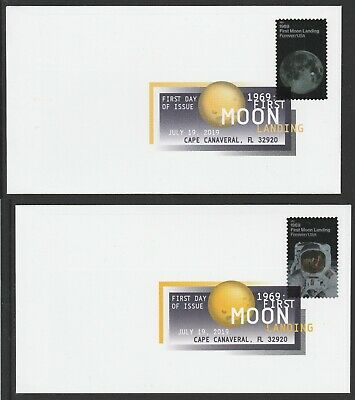 US 5399-5400 1969 First Moon Landing (set of 2) DCP FDC 2019