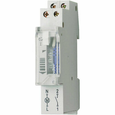 Finder 12.11.8.230.0000 16A Mechanical Daily Time Switch SPST-NO 250VAC