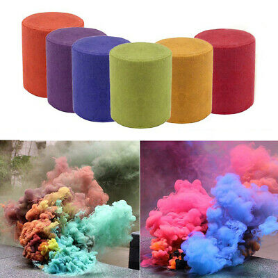 6pcs Color Smoke Cake Round Bomb Effect Stage Show Prop Photography Party Toy