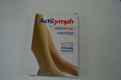 ActiLymph class 1 below knee open toe sand extra large compression stockings