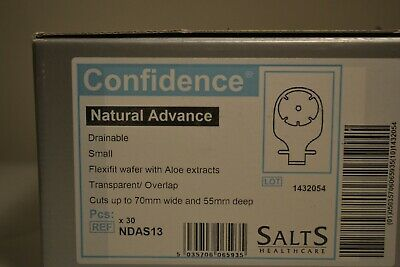 salts confidence natural advance ostomy bag ref NDAS13 1x30