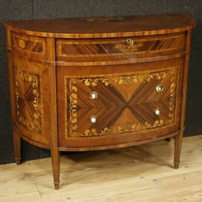 Dresser furniture halfmoon shaped cupboard wooden inlaid antique style 900