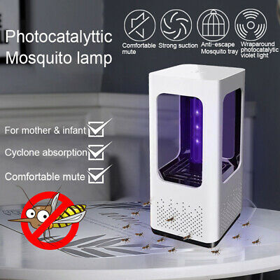 USB LED Light Lamp Fly Insect Bug Trap Practical Electric  Killer Zapper