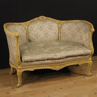 Sofa Italian furniture corbeille couch living room armchair chair antique style