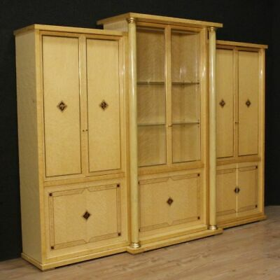 Bookcase italian cupboard showcase furniture wooden antique style living room