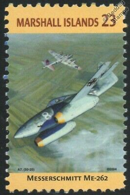 WWII MESSERSCHMITT Me.262 Schwalbe vs. B-17 Aircraft Stamp (Marshall Islands)