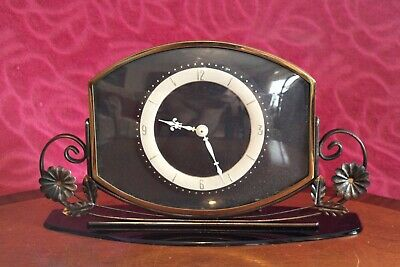 Vintage English Mechanical Table Clock