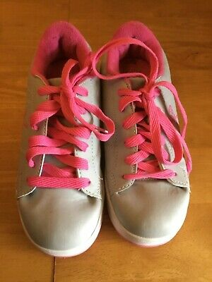 Girl's Grey And Pink Skate Shoes by Sidewalk Sports Size 1- Similar to Heelys