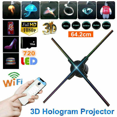 65CM LED WIFI Holographic Projector HD 1080P 3D 16GB Hologram Player Advertising